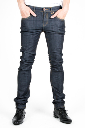 Dr Denim: Snap Rinsed Blue Jeans