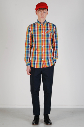 Knowledge Cotton Apparel: Poplin Checked Shirt
