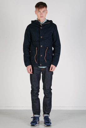 Elvine: Theo Washed Cotton Jacket Navy