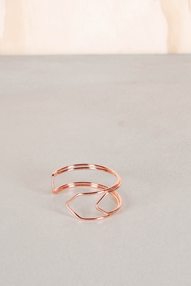 Cheap Monday: Paperclip Bracelet Rose Gold