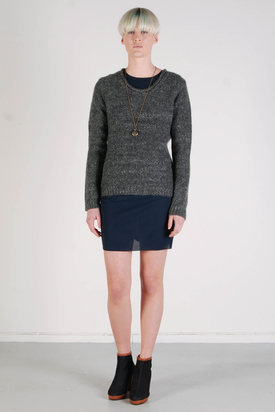 Dr Denim: Selma Dark Grey Mix Sweater