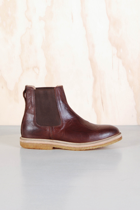 Knowledge Cotton App: Ankle Boot Dark Brown