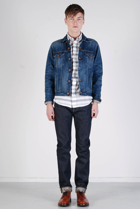 Edwin: Bronco Jacket Dark Blue Denim