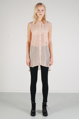 Dr Denim: Zenita Pale Peach Top