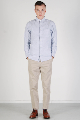 Knowledge Cotton Apparel: Button Down Oxford Shirt