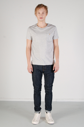 The Blue Uniform: Chest Pocket Grey T-shirt