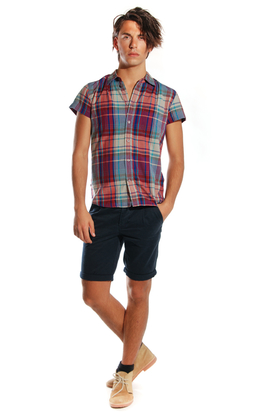 Dr Denim: Enom Wine Red Check Shirt
