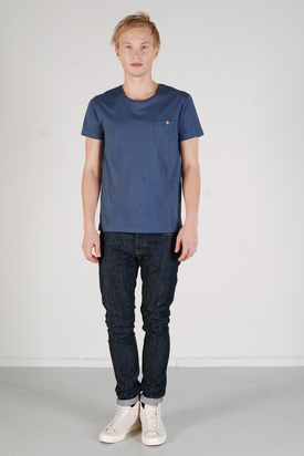 The Blue Uniform: Chest Pocket Navy T-shirt