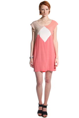 Dr Denim: Linn Coral Pink Dress