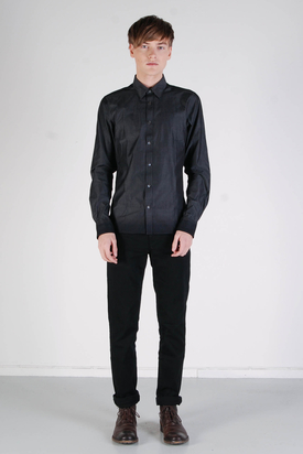 Ben Sherman: LS Shirt Soho Fit Ebony Grey