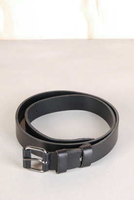 Nudie: Wayne Black Leather Belt