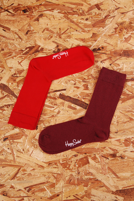 Happy Socks: Red/Burgundy 2-Pack