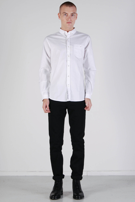 Knowledge Cotton Apparel: Button Down Oxford Shirt Bright White