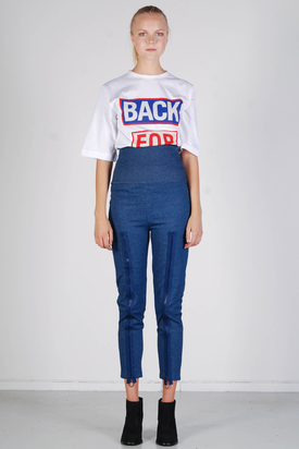 Ann-Sofie Back: Zip Ring Leggings Denim Blue
