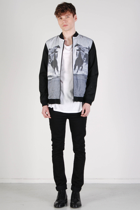 Revolution: Jacket Light Black Horse Print